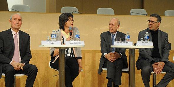 De gauche à droite Jean-Louis Guigou, Dominique Bouvier, Jean-Pierre Vuillerme et Halim Bensaïd. ©Laurent Cerino/Acteurs de l'économie