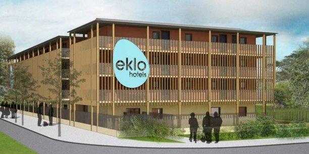 L'ossature en bois des Eklo Hotels est réalisée par la société vosgienne Charpente Houot, l'un des actionnaires de la jeune entreprise./ DR