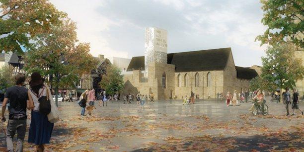 Dans la ligne de mire des opposants à l'équipe sortante : le coût de construction du futur Centre des congrès, dans l'ancien couvent des Jacobins. / DR
