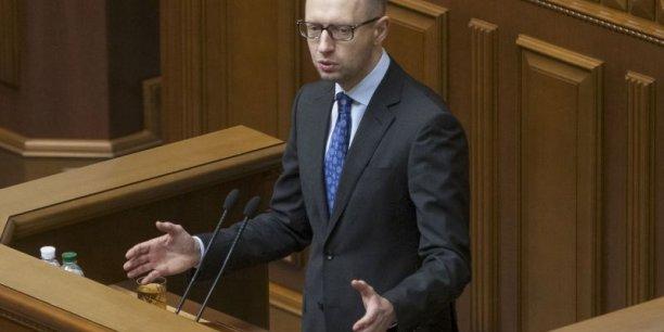 Le premier ministre ukrainien Arseni Iatseniouk veut taxer les déposants pour redresser l'économie moribonde du pays. (Photo : Reuters)