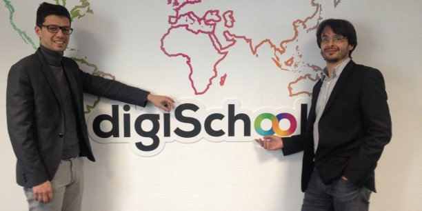 Thierry Debarnot et Anthony Kuntz, cofondateurs de digiSchool.