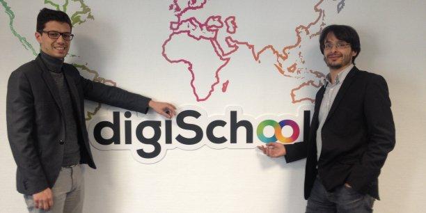 Thierry Debarnot et Anthony Kuntz, dirigeants de digiSchool