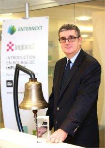 Ludovic Lastennet, au moment de l'introduction en bourse d'Implanet