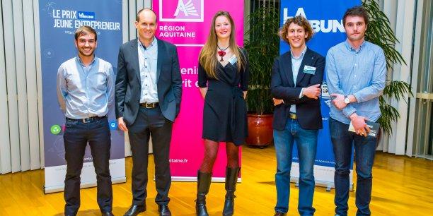 Voici les cinq lauréats qui viendront représenter les jeunes entrepreneurs d'Aquitaine lors de la finale du PNJE à Paris.