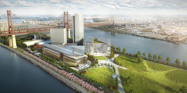 Le projet de campus universitaire Cornell NYC Tech, sur Roosevelt Island, déjà surnommée « Silicon Island ». / DR