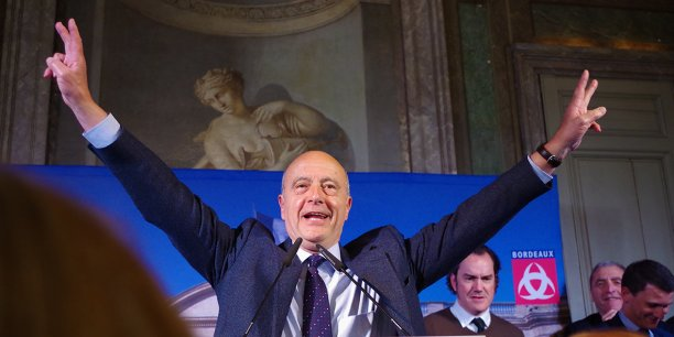 Alain Juppé au soir de sa réélection à la mairie de Bordeaux