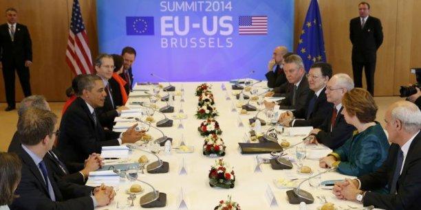 Obama, lors de sa visite fin mars à Bruxelles. / Reuters