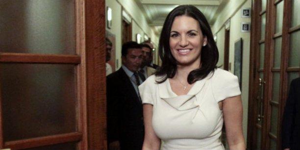 Olga Kefalogianni est la ministre grecque du tourisme depuis 2012 | REUTERS