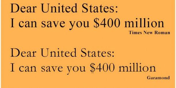 Le gouvernement américain dépense chaque année environ 467 millions de dollars en encre.
