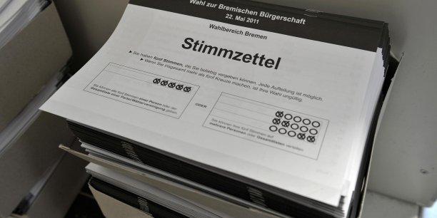 Un bulletin de vote pour l'élection régionale à Brême, le plus petit Land allemand.