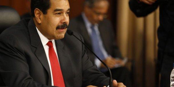 La dégringolade des cours de l'or noir a précité la crise du modèle rentier vénézuélien. Sur la photo, Nicolas Maduro, le président vénézuélien.