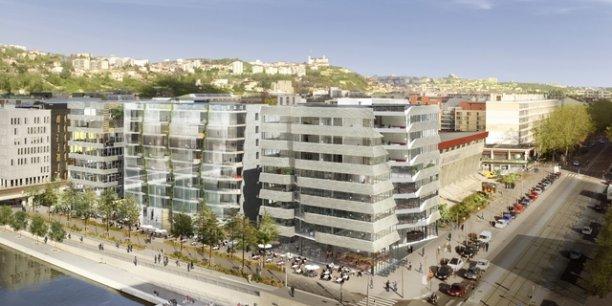 Le futur immeuble Hikari à la Confluence ©Kengo Kuma