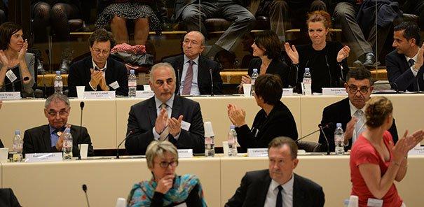Gérard Collomb a été élu avec 92 voix. ©Laurent Cerino/Acteurs de l'économie