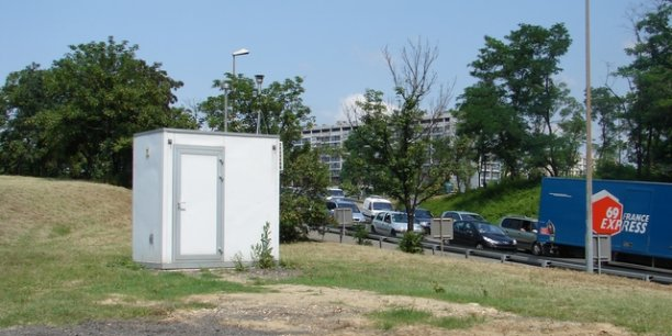 Une station de mesure d'Air Rhône-Alpes près de Lyon