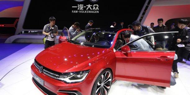 Le stand Volkswagen au salon de Pékin, en avril.