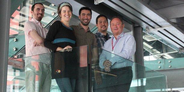 L'équipe de Pango studio de gauche à droite : Nicolas Blanc, Lise Mélinand, Mathieu Akita, Julien Akita, Christian Larger.© Studio Pango