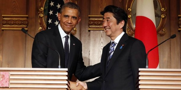 Malgré les sourires affichés, Barack Obama et Shinzo Abe ne sont pas parvenus à boucler l'accord sur les enjeux commerciaux du partenariat Trans-Pacifique. Reuters
