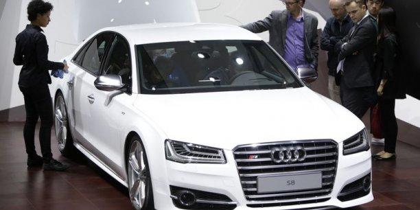 Le groupe Volkswagen dépasse Toyota (ici l'Audi S8 de haut de gamme)