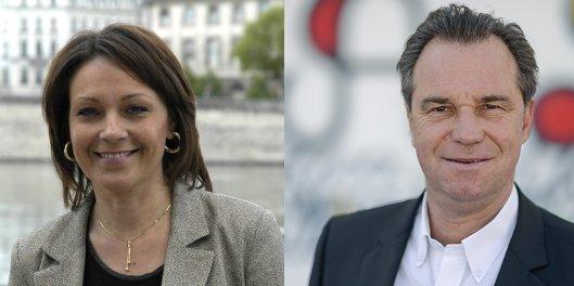 De gauche à droite, Sylvie Guillaume et Renaud Muselier. / DR