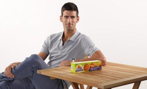 Novak Djokovic, nouveau partenaire de Gerblé © photo Gerblé