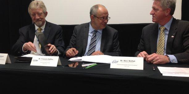 Au centre,  François Baffou, directeur général de Bordeaux Technowest
