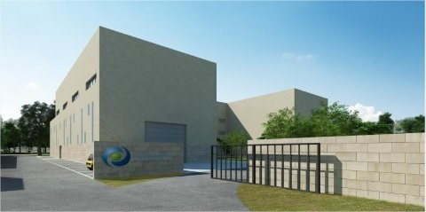 Fermentalg (Libourne, ici l'unité de production industrielle en cours de construction) est la société de biotechnolgie qui pilote le projet de chimie verte Trans'Alg qui vise à produire des matières premières de substitution aux produits pétroliers à bas prix.
