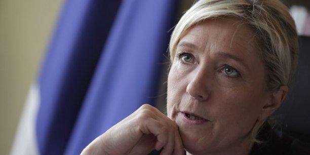 Pour accélérer la sortie de crise, le FN de Marine Le Pen ne compte pas vraiment sur l'Europe, sans surprise