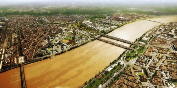 L'opération d'intérêt national Bordeaux Euratlanique doit permettre de construire jusqu'à 2,5 millions de m2 répartis entre logements, bureaux, commerces et services publics sur 738 hectares à Bordeaux, Bègles et Floirac, de part et d'autre de la Garonne.