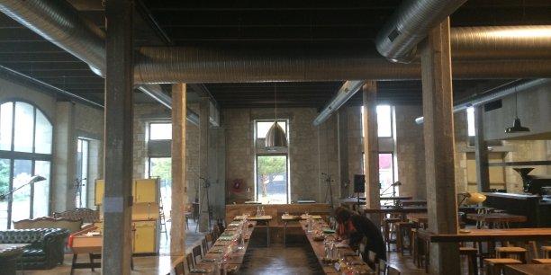 La salle du Bistrot Réfectoire (ici en configuration repas de groupe) pourra accueillir 140 couverts
