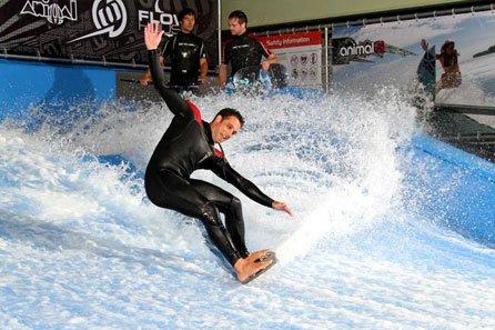 Slidepark proposera, outre une soufflerie permettant de vivre les sensations de la chute libre, une vague artificielle permettant de simuler la glisse du surf, du skate ou encore du snowboard