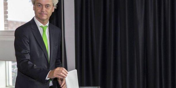 Le parti eurosceptique de droite de Geert Wilders a subi un recul surprise ce jeudi