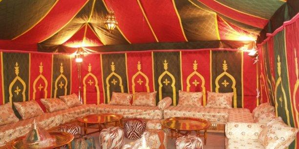 Une des tentes berbères qui seront mises à la disposition des campeurs