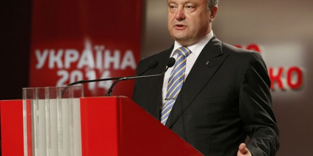 Petro Porochenko, élu président de l'Ukraine, dimanche. DR