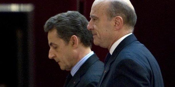 Alain Juppé et celui qui pourrait être son principal rival dans la course à l'investiture de l'UMP, Nicolas Sarkozy