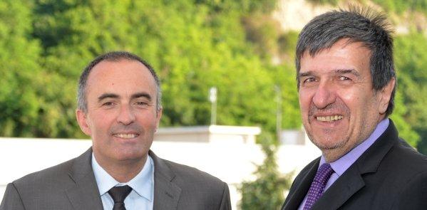 Michel Le Faou (à gauche) et Bernard Bochard (à droite)