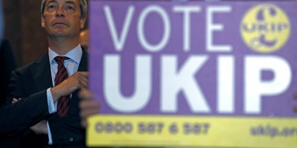 Nigel Farage, leader du partie UKIP. / Reuters