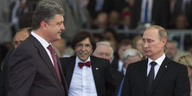 Vladimir Poutine et Petro Porochenko le 6 juin 2014