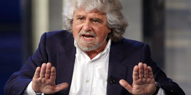 Beppe Grillo, leader du Mouvement 5 Etoiles italien, se rallie à Nigel Farage