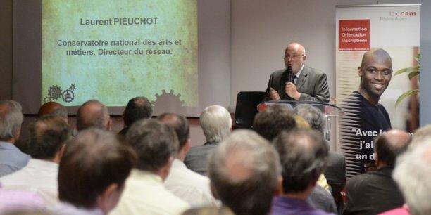Laurent Pieuchot, directeur du réseau CNAM, lors de la conférence du 12 juin organisée par Acteurs de l'économie. Crédits : Laurent Cérino