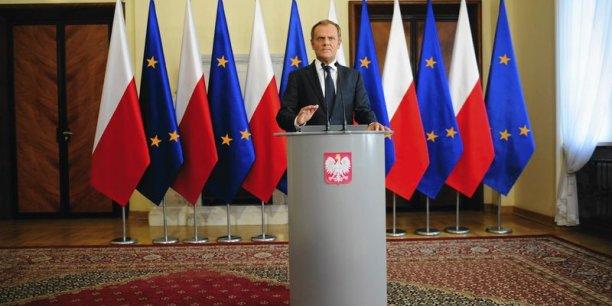 Le premier ministre polonais Donald Tusk a exclu toute démission