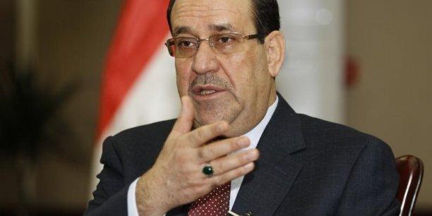 Le Premier ministre irakien Nouri Al Maliki est fortement incité par Barack Obama à renouveler son gouvernement pour mieux prendre en compte la communauté sunnite. /Reuters