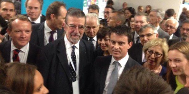Manuel Valls dans les travées de Planète PME