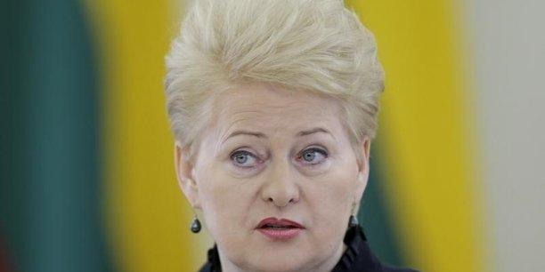 La présidente lituanienne Dalia Grybauskaite.