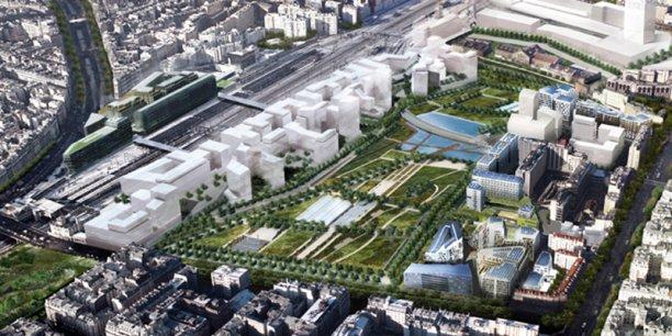 Le parc de Clichy- Batignolles, où l'aménageur, Paris Batignolles Aménagement, a mis en place des partenariats avec les promoteurs, associés en amont du projet./ DR