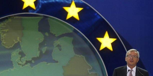Jean-Claude Juncker, qui a obtenu ce matin la confiance du Parlement à 420 voix contre 250, a présenté sa feuille de route pour les cinq années de son mandat à suivre. | REUTERS