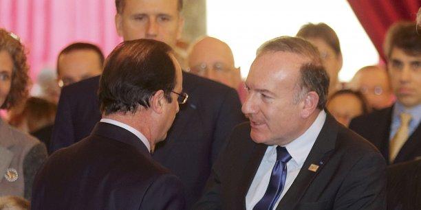 François Hollande et Pierre Gattaz, président du Medef