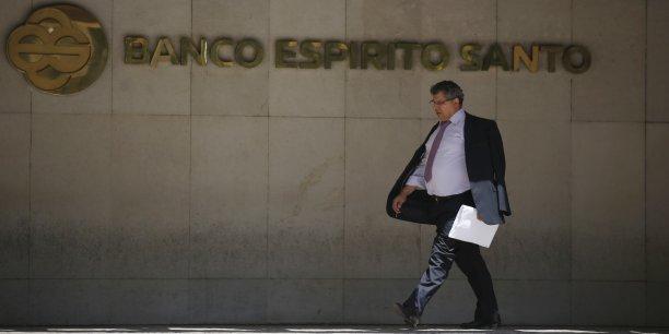 L'action de la première banque du Portugal avait  perdu jusqu'à 19% jeudi 10 juillet, les investisseurs s'interrogeant sur son exposition aux autres sociétés du groupe contrôlé par la puissante famille Espirito Santo. REUTERS.