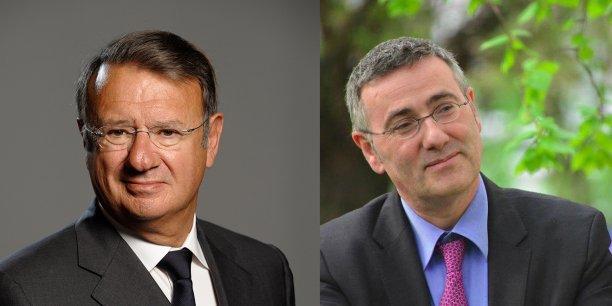 François Pierson, président du conseil d'administration de Kedge Business school, etThomas Froelicher, directeur général de Kedge BS