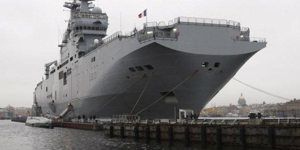 Un renoncement à la livraison du premier porte-hélicoptères d'une valeur de 1,2 milliard d'euros obligerait la France à dédommager Moscou. (Photo : Reuters)