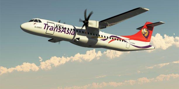 Un ATR 72-500 effectuait un transfert entre l'aéroport international de Kaohsiung (Taïwan) et l'aéroport régional de Magong (sur la photo, un ATR 72-600 de TransAsia)